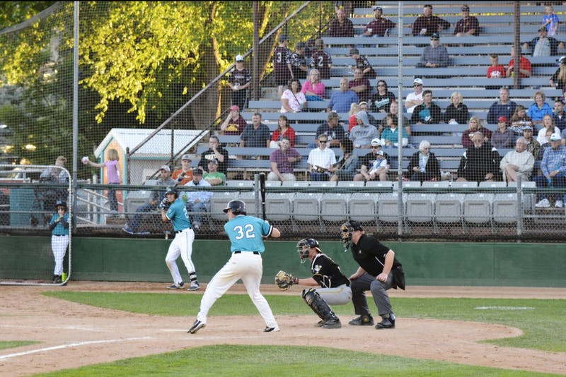 Gopher's catcher Eli Wilson plays for the Willmar Stingers during a game against the Rochester Honkers on Monday, June 19, 2017 at Mayo Field in Rochester, Minnesota. The Stingers have three Gophers spending their summer season with the team.