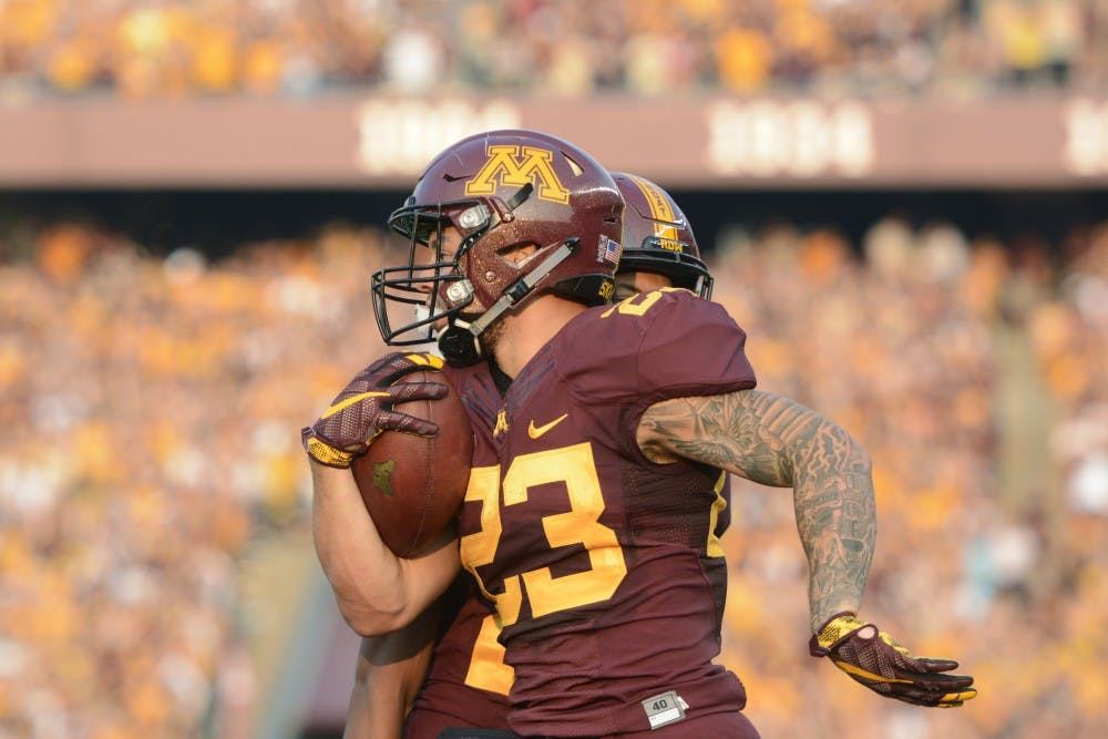 Minnesota running back Shannon Brooks arrested Sunday
