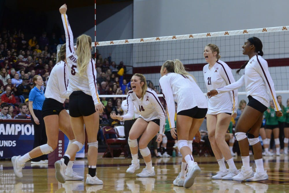 Gophers sweep North Dakota in opening round of NCAA tournament