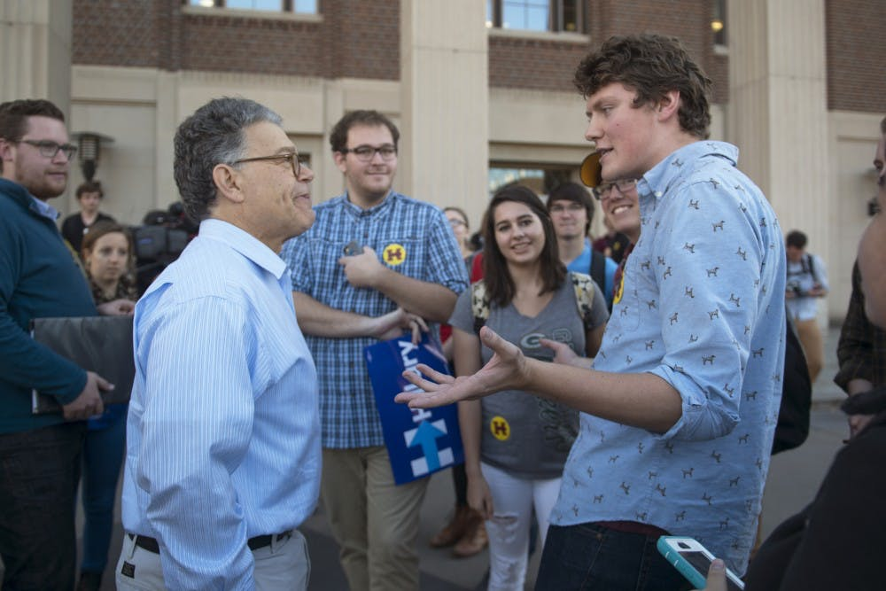 UMN liberal groups call for accountability after Franken sexual misconduct allegations