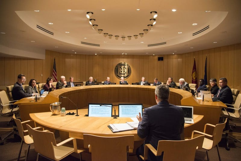 The Board of Regents convene for their October meeting at the McNamara Alumni Center on Thursday, Oct. 10.