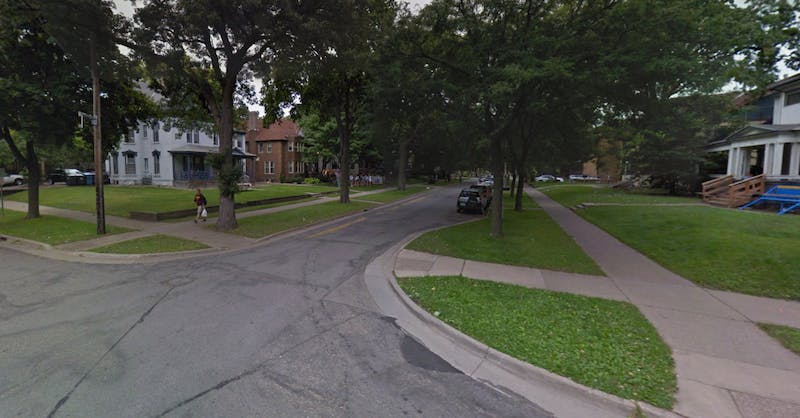 The corner of 11th Avenue Southeast and 5th Street Southeast in Minneapolis (Photo Courtesy of Google Maps)