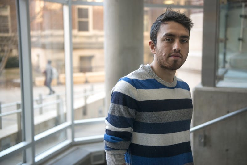University Ph.D. student Saeed Hashemi poses for a portrait inside the Mechanical Engineering Building on East Bank on Wednesday, Feb. 1, 2017. Hashemi is from Iran, one of the countries affected by President Trump's recent executive order on immigration.