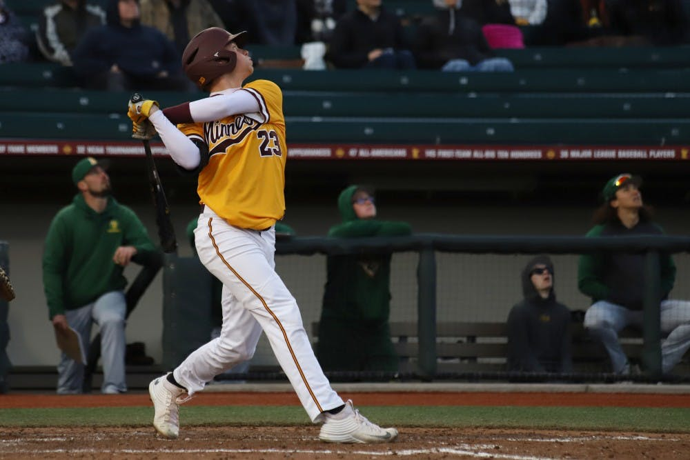 Gophers face Twins, lose series to TCU