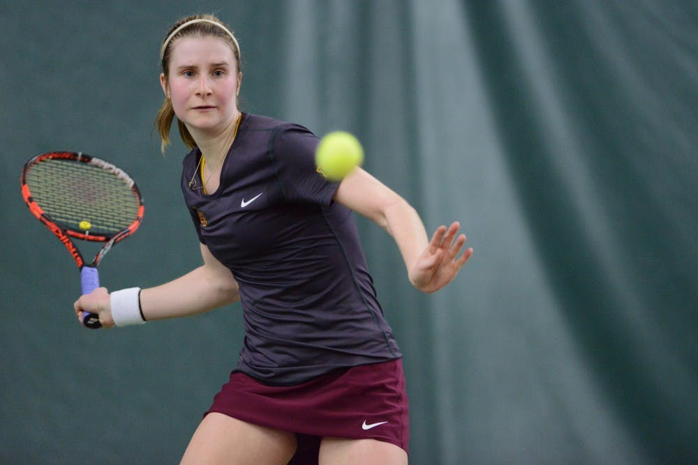 Gophers women's tennis go undefeated against Ohio State, Penn State
