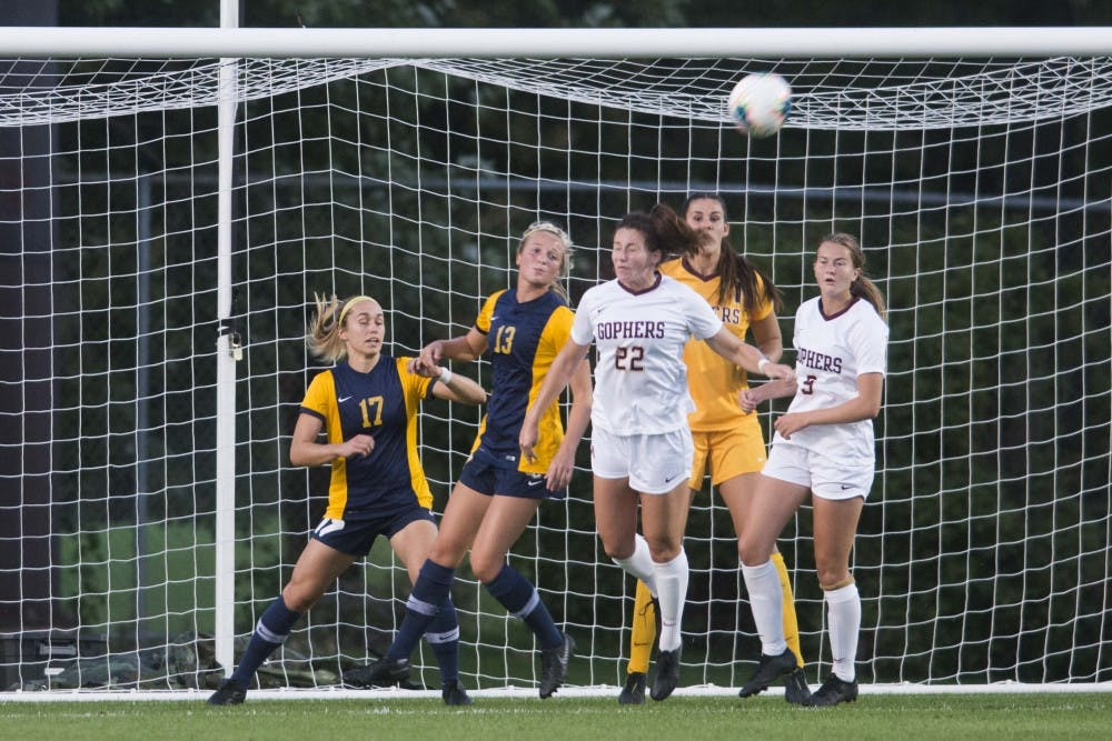 Gophers fall to Marquette in women's soccer home opener