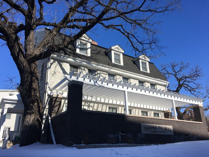The Gamma Phi Beta sorority house as seen on March 8, 2018.