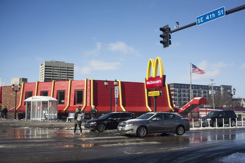 The McDonald's located on the corner of Fourth Street Southeast and 15th Avenue Southeast as seen on Tuesday, Feb. 18.