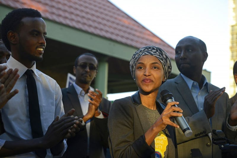 Representative Ilhan Omar announced her endorsement for Mohamud Noor in his run for Minneapolis City Council Ward 6 on Wednesday, Oct. 4, 2017 at Currie Park in Minneapolis. Omar won the primary in 5th Congressional District, and Noor won the primary for District 60B.