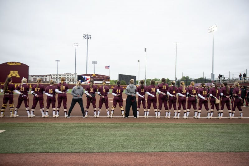 The Gopher softball team competed in the Minneapolis regional as part of the 2019 national softball championship.