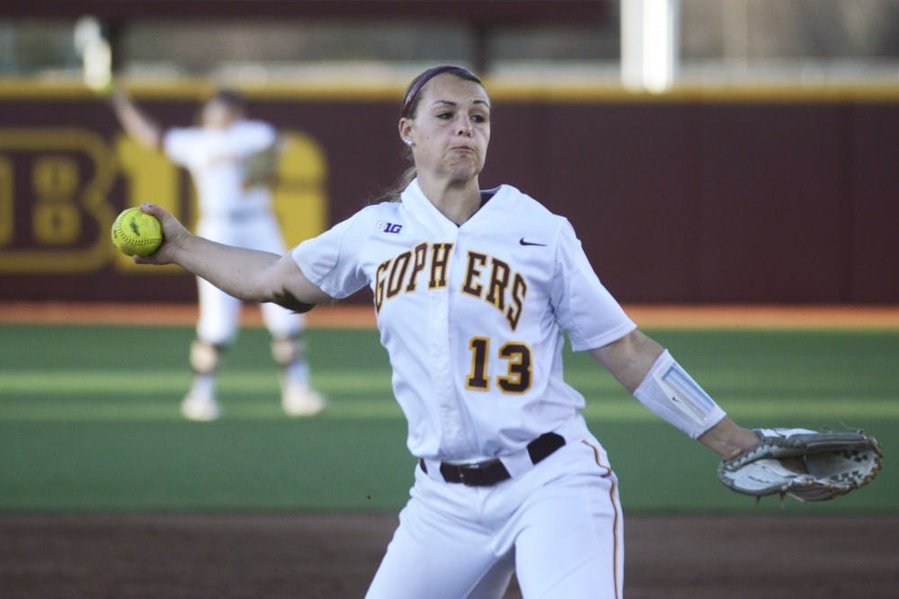 Gophers dominate South Dakota 20-0 in first home doubleheader