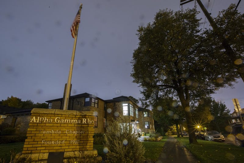 Alpha Gamma Rho is seen on Wednesday, Oct. 10 near the Saint Paul campus. A member of the fraternity died as a result of alcohol-related complications in September.