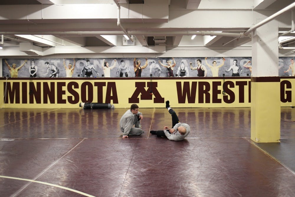 Now in his second year, Gophers wrestler Steve Bleise feels right at home