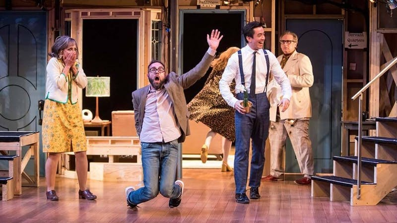 Noises Off is running until Dec. 16 at the Guthrie Theater.