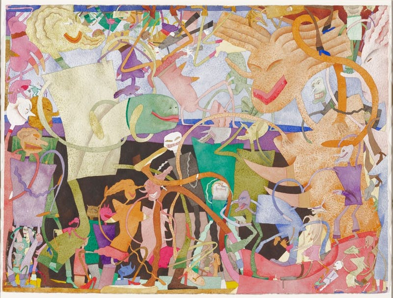 """The painting, """"Jardin Man,"""" 1970, by Gladys Nilsson, is displayed at the Minneapolis Institute of Arts' exhibit, """"Art from Chicago."""""""