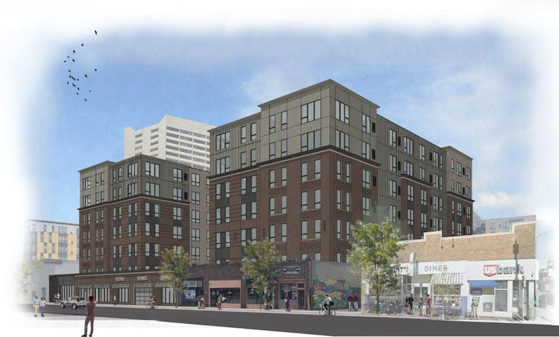 Concept rendering for the proposed development located on Fourth Street in Dinkytown.