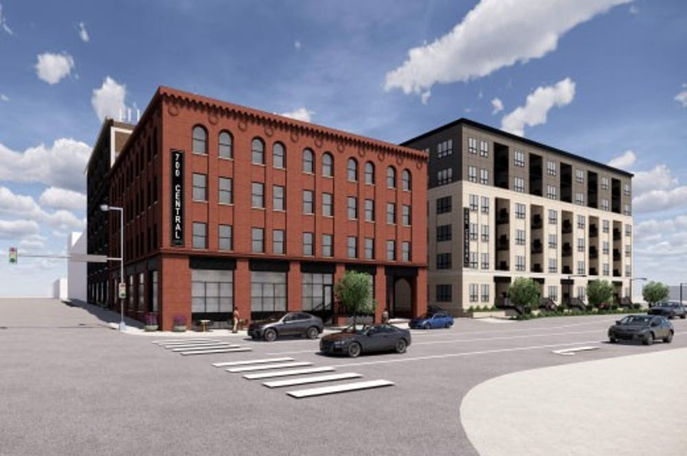 New 71-unit apartments bring the new and old to Marcy-Holmes