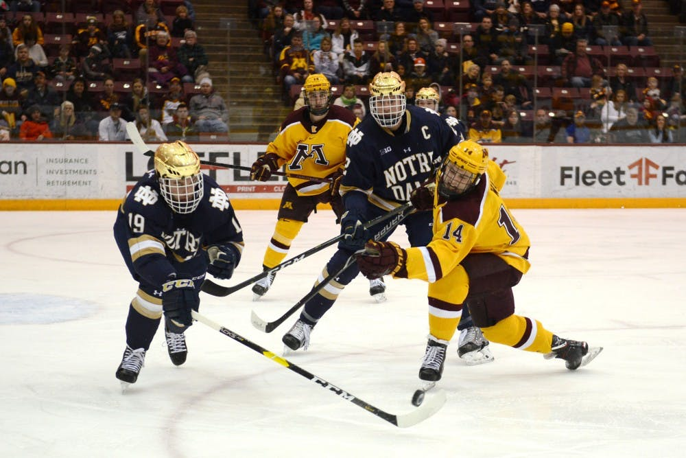 Gophers earn 'hard fought' victory to split series with Notre Dame