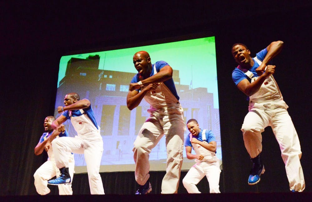 Multicultural frats showcase stepping