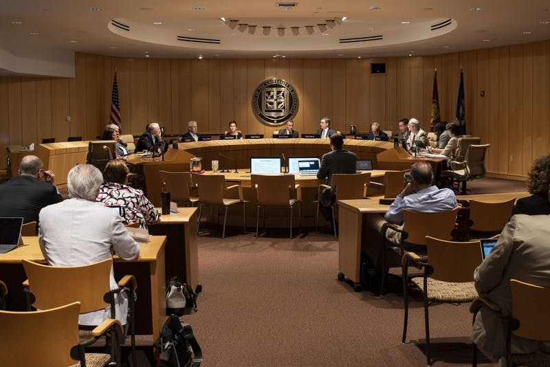 The University's Board of Regents meets on Friday, June 14 at McNamara Alumni Center in Minneapolis. The meeting covered topics including policy revisions, Board of Regents operations, and University tuition. Four new regents were also sworn in at the meeting.