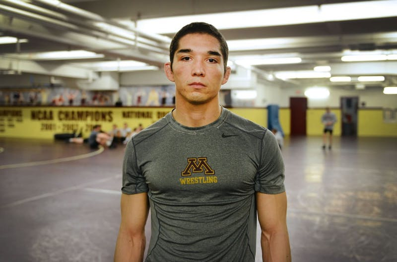 Gopher wrestler Conrad Rangell spent five years playing professional paintball before returning to school and becoming a part of the University in fall 2012.