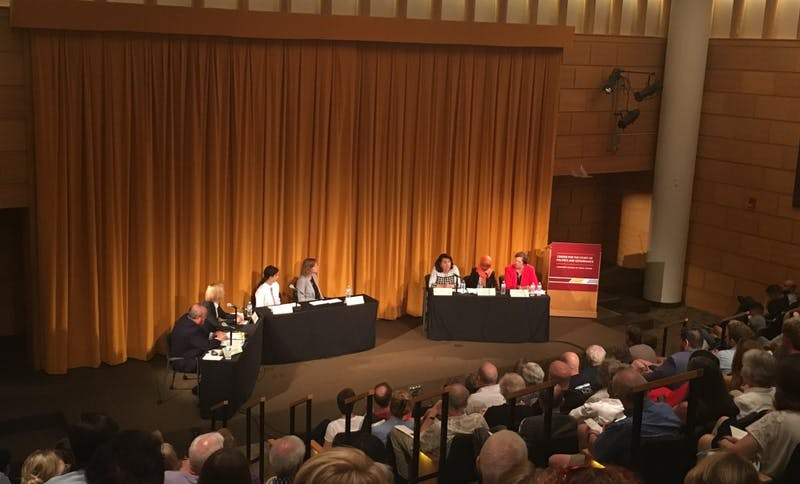 Three DFL candidates running for Minnesota's 5th Congressional District discussed gun violence, health care, student debt and immigration at a forum hosted by the University of Minnesota's Humphrey School of Public Affairs on Monday, Aug. 13, 2018.