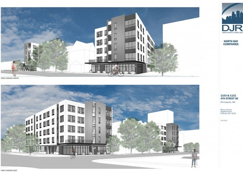 A rendering of 1103 & 1121 4th St. SE developments.