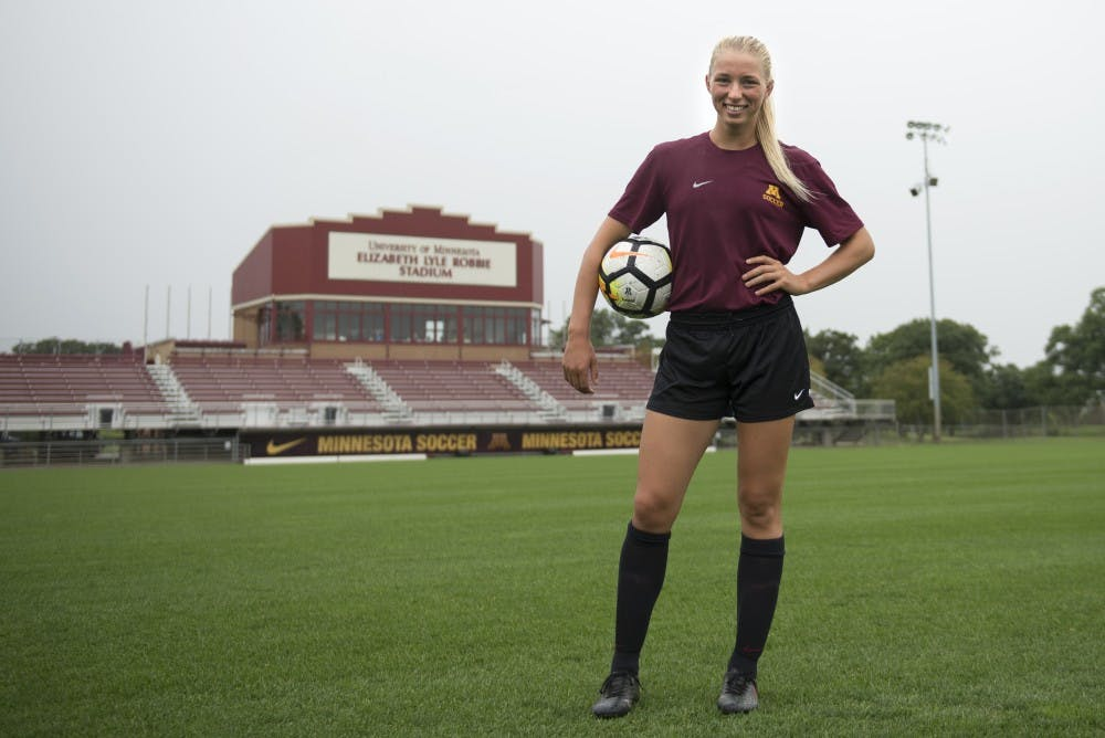 Sydney Squires, the 'goofy' one, keeps the mood light and expectations high for Minnesota