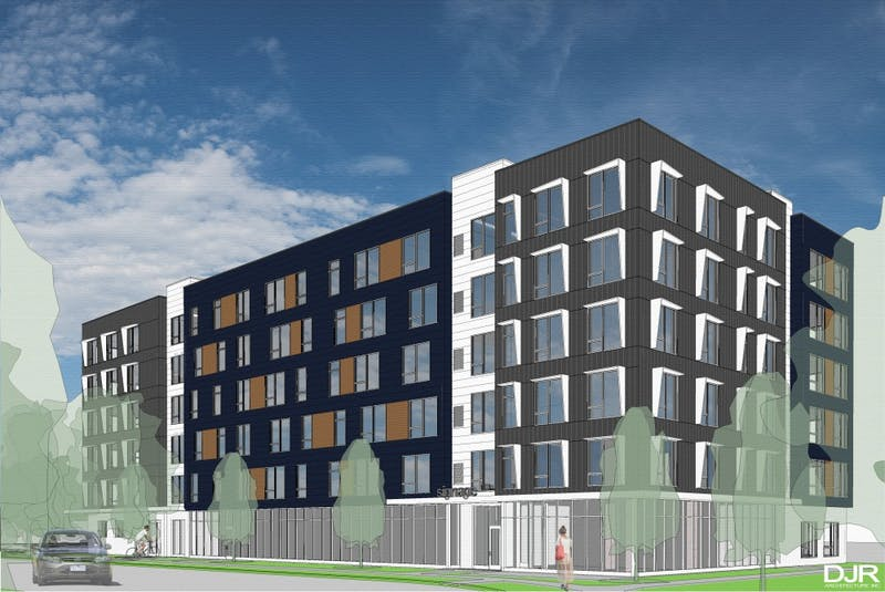 A rendering of American Spirit Apartments.
