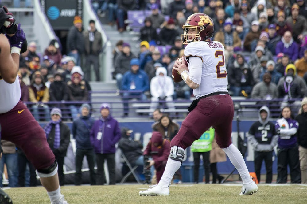 Morgan throws four touchdowns to lead Gophers past Northwestern