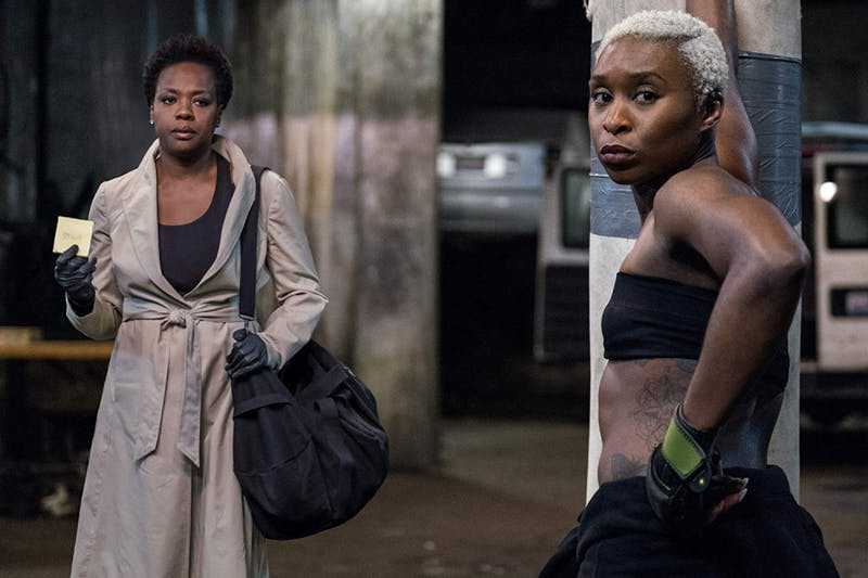 "A film still from ""Widows."""