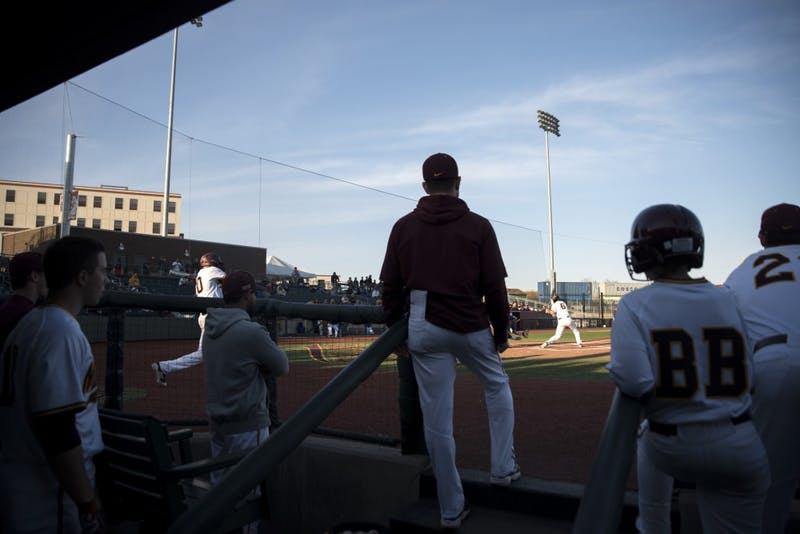 Infielder Terrin Vavra swings at a pitch during a game against South Dakota State at Siebert Field on Wednesday.