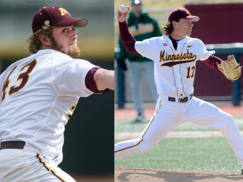 Left, LucasGilbreath and Brian Glowicki. Gilbreath was taken by the Colorado Rockies in the seventh round and Glowicki was drafted by the Chicago Cubs in the 10th round.