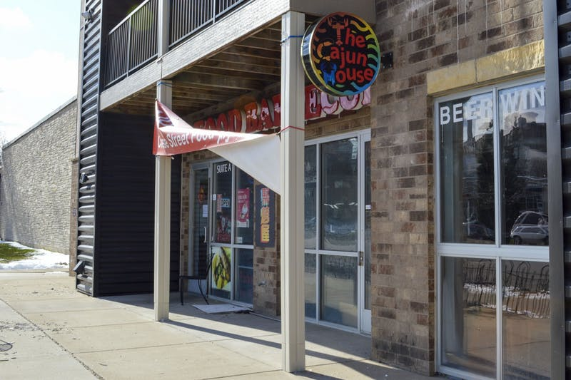 The Cajun House, seen on Wednesday, April 15, is one of many businesses in Prospect Park that fall outside the city's eligibility area in the new small business forgivable loan program.