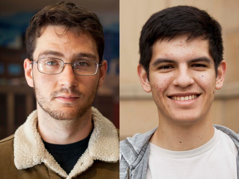 Newly elected Council of Graduate Students Representatives Anthony Kahane, left, and Rodrigo Garcia, right, pose for portraits. Kahane and Garcia are replacing two former representatives to the Board of Regents who stepped down over the summer.