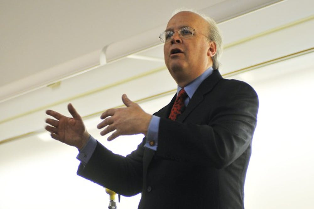 Karl Rove speaks at U
