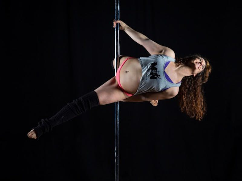 "University of Minnesota alumna ""Myss Angie"" teaches and performs pole dancing, using the art to empower women."