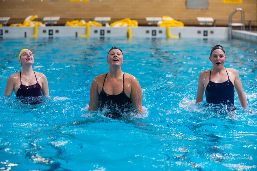 Diving in headfirst: Inside the University's synchronized swimming club