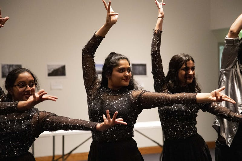 "Performers dance at the Al-Madinah Cultural Center's ""Do It For the Culture Gala"" at the Weisman Art Museum on Friday, Dec. 6."