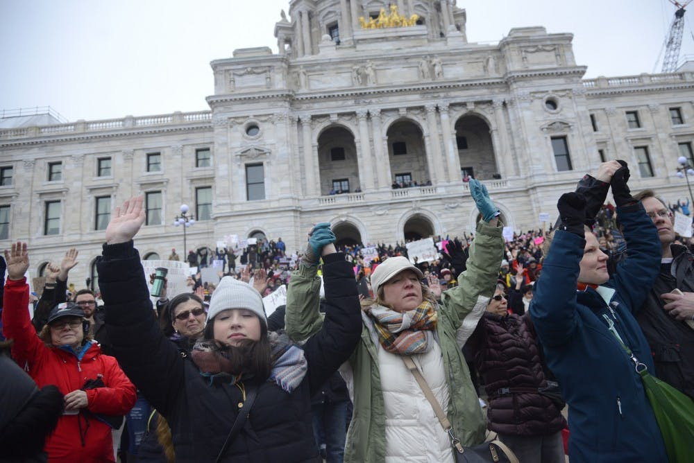 In photos: Tens of thousands gather for Women's March in St. Paul