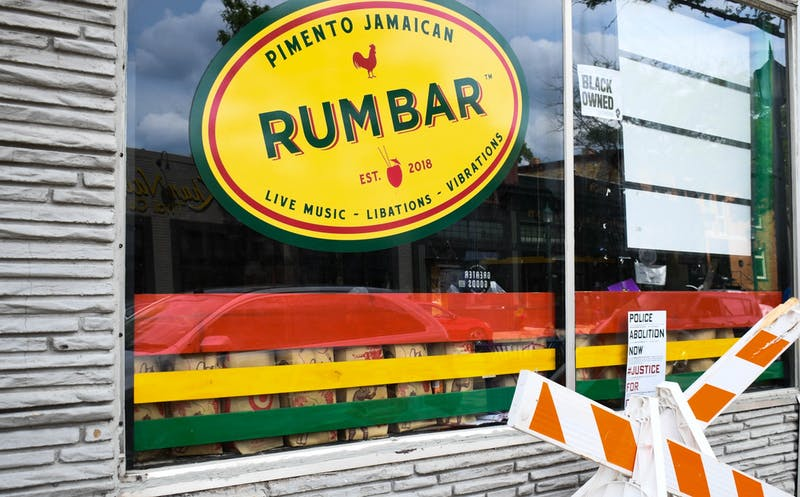 Pimento Jamaican Kitchen's donation drop-off location on Sunday, June 28. Local Twin Cities eateries have opened their doors for donations to help communities heal.