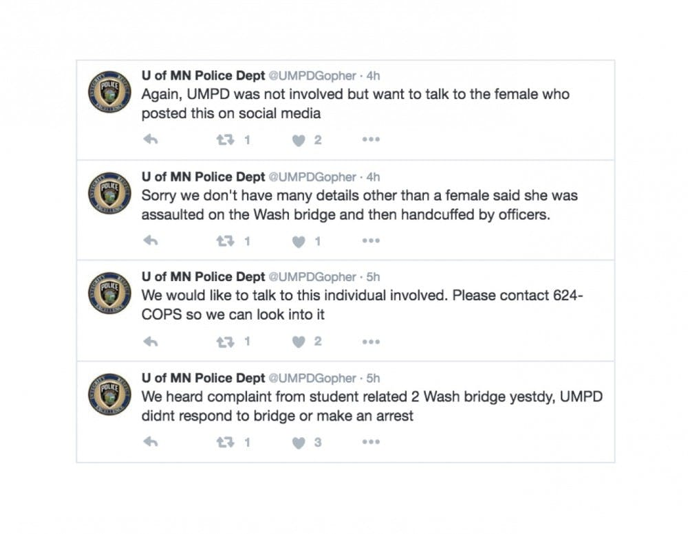 On social media, police say they did not respond to University student's alleged campus assault