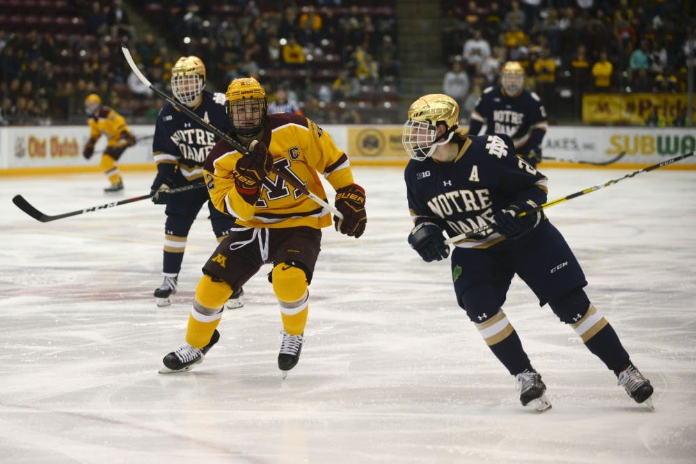 Gophers head to Notre Dame for Big Ten semifinal
