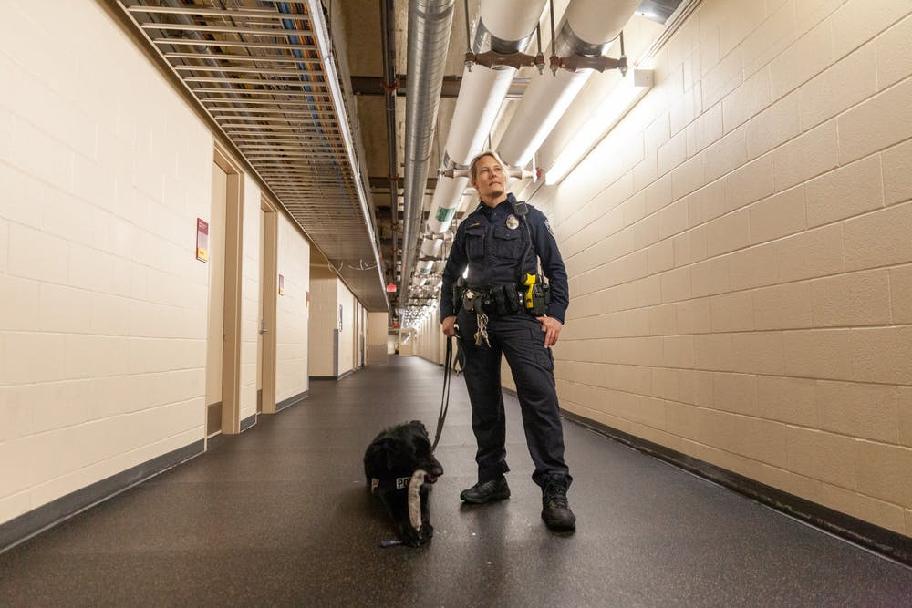 All paws on deck for UMPD's team of bomb-sniffing dogs