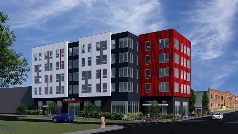 A rendering for the 1101 Hennepin Ave E development
