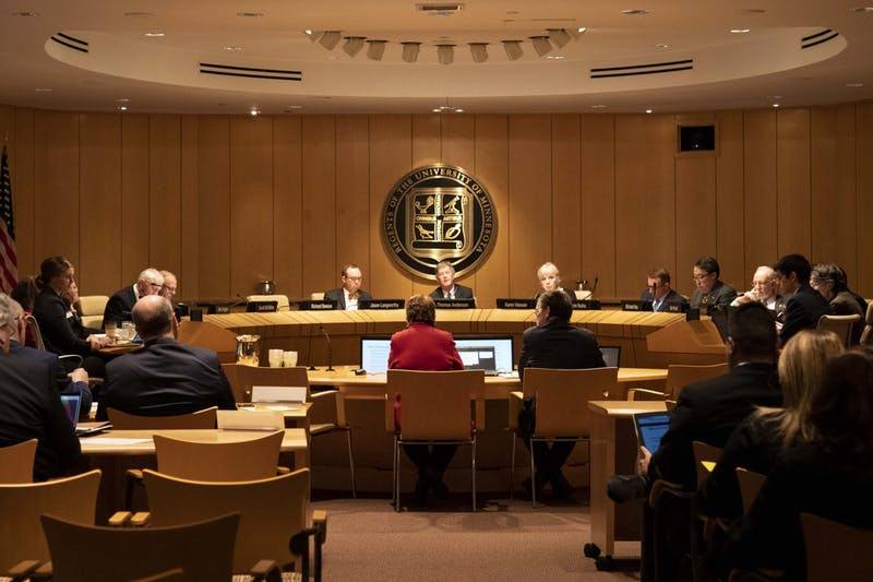 The Board of Regents convene for their December meeting at the McNamara Alumni Center on Thursday, Dec. 12.