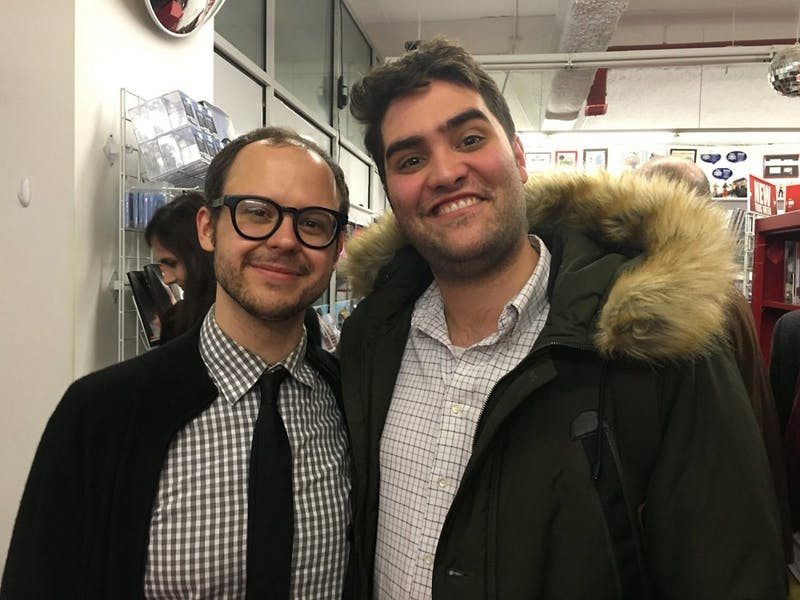 Daniel Kibblesmith, left, and Eliot Rahal.