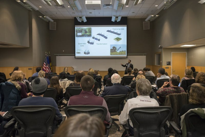 Four University of Minnesota Ph.D. students presented their thesis projects in the 3-Minute Thesis competition on Friday, Dec. 1 in Walter Library. The competition challenges students to present their research in a way that any audience can understand.