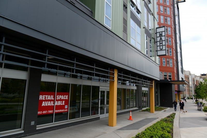 A view of the retail spaces available for leasing underneath Wahu apartments on Tuesday, May 30.