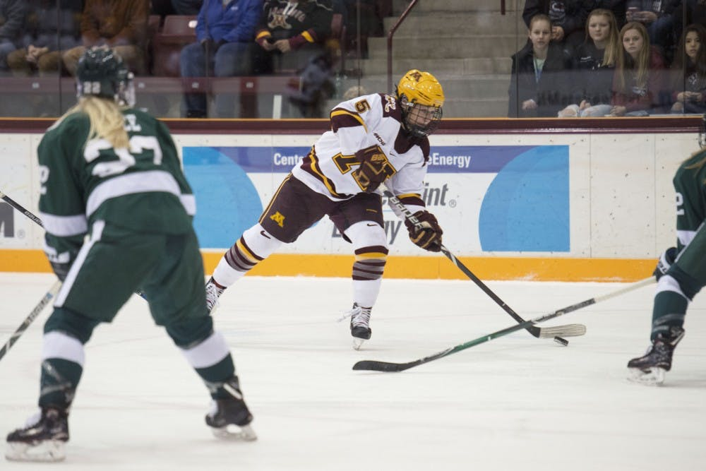 Sophie Skarzynski plays offense and defense in Gophers Olympics year